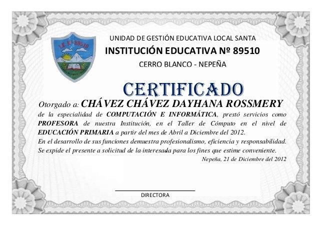 Super Modelo de Certificado WE13