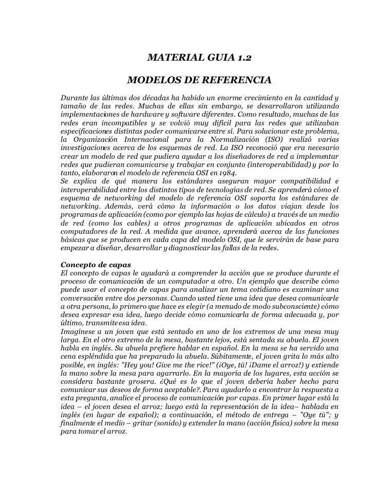 MATERIAL GUIA 1.2                      MODELOS DE REFERENCIA Durante las últimas dos décadas ha habido un enorme crecimien...