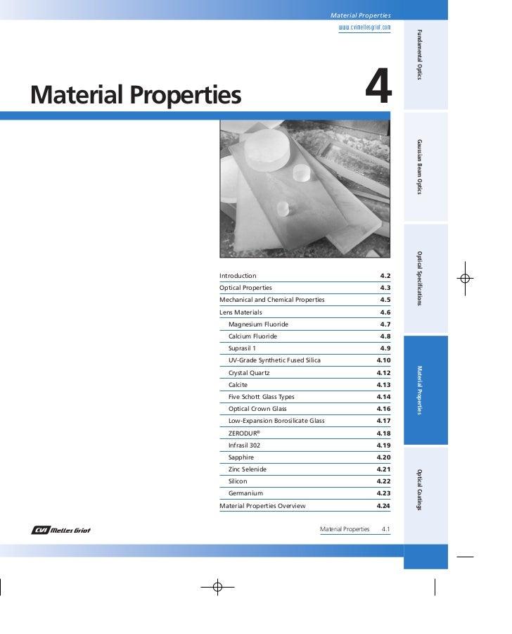 Material Properties                                                       www.cvimellesgriot.com                          ...