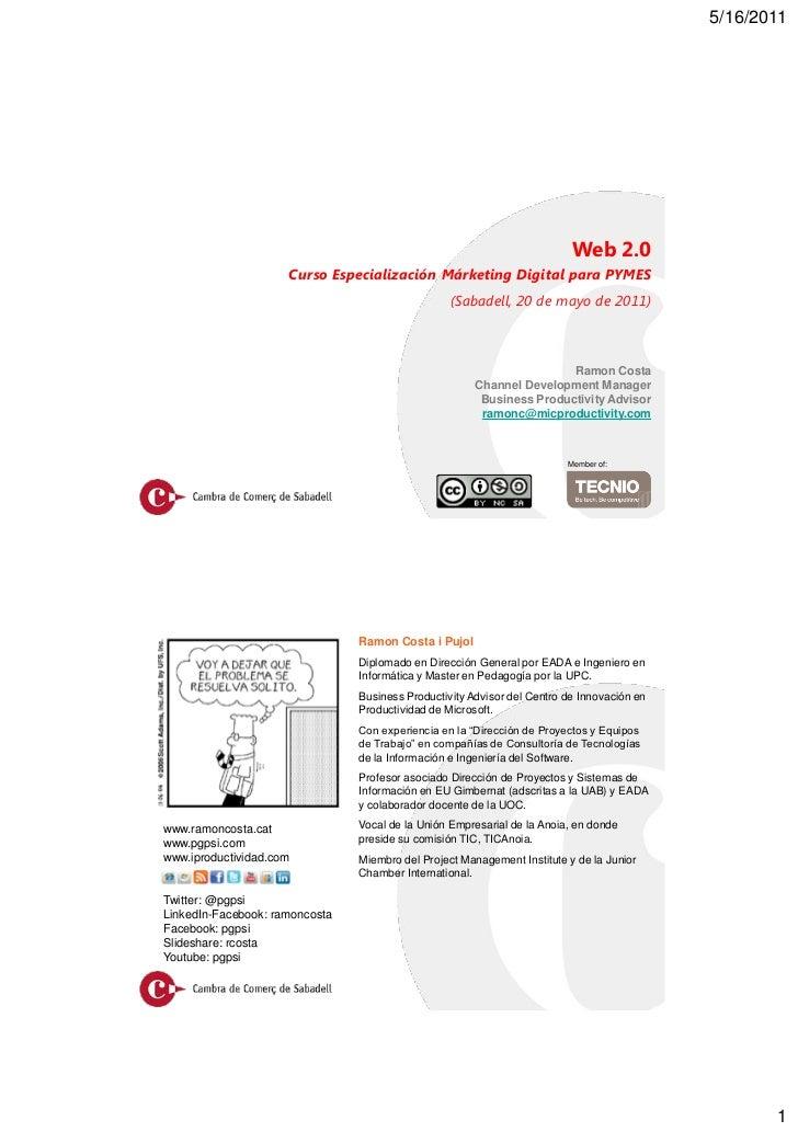 5/16/2011                                                                          Web 2.0                     Curso Espec...