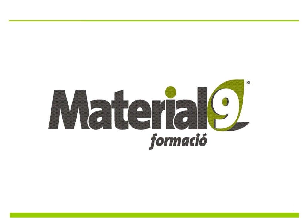 Material9 neix dun ambiciós projecte emmarcat en làmbit de                           la consultoria, la formació i la inno...