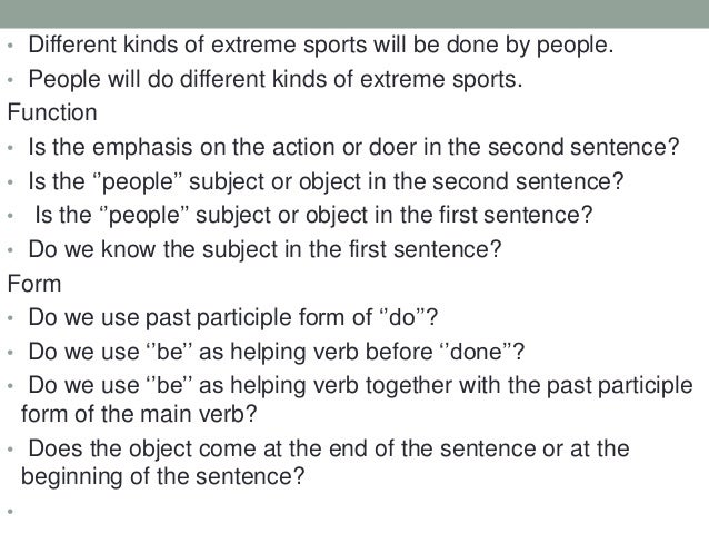 Semi-Guided Activity Here are many sentences change them into passive. Active  Passive  1  Once a week, Tom cleans the hou...