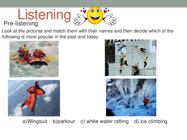 While-listening (listening for main idea) • 1. Listen to the Journalist and thick the correct choice. 1. Interviewer at fi...