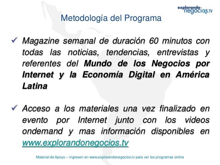 Material apoyo magazine explorando negocios.TV del 28-02-2012