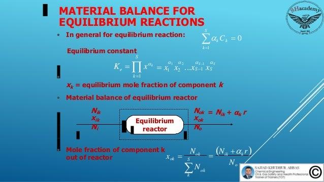 Episode 62 :  MATERIAL BALANCE FOR REACTING SYSTEM  Slide 3