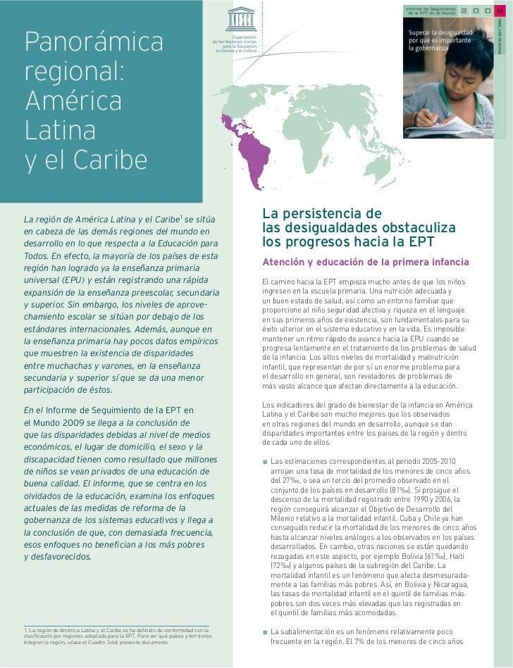 Panorámicaregional:AméricaLatinay el CaribeLa región de América Latina y el Caribe1 se sitúa                              ...
