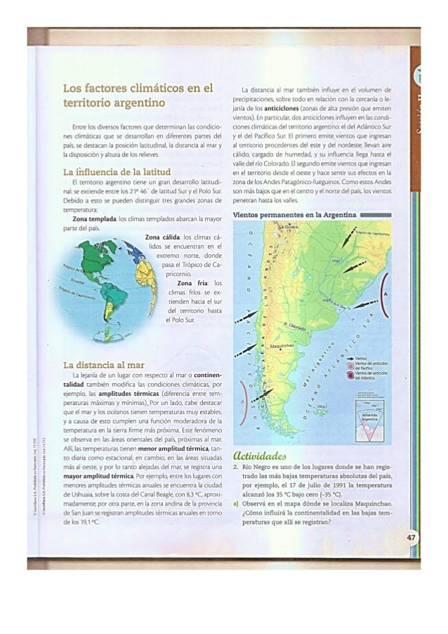 Material clima de Argentina