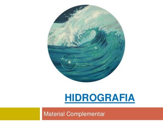 HIDROGRAFIA Material Complementar