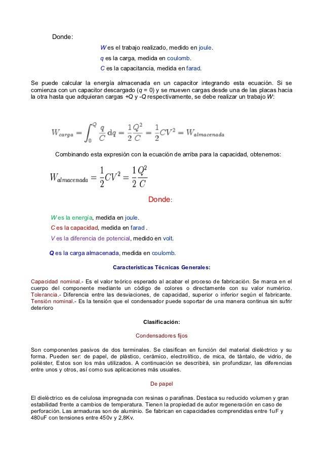 Material de estudio.capacitores y condensadores. octubre  2012. Slide 2