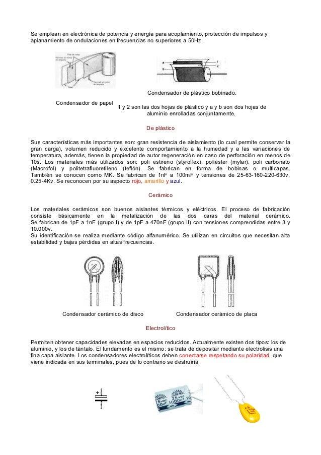 Material de estudio.capacitores y condensadores. octubre  2012. Slide 3