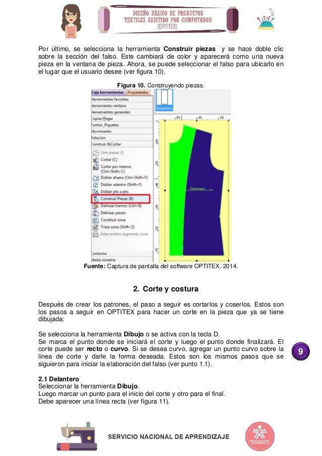 diseño básico de productos textiles optitex