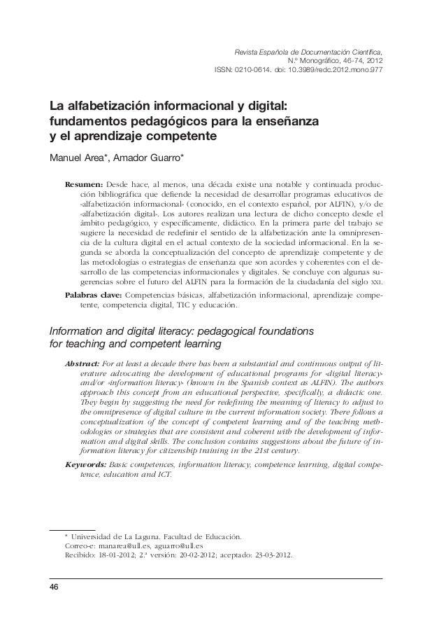 046-74 REDCmono-2C.qxp  11/7/12  10:12  Página 46  Revista Española de Documentación Científica, N.º Monográfico, 46-74, 2...