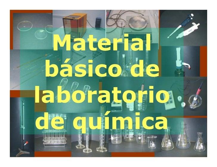 Material  básico de laboratorio de química