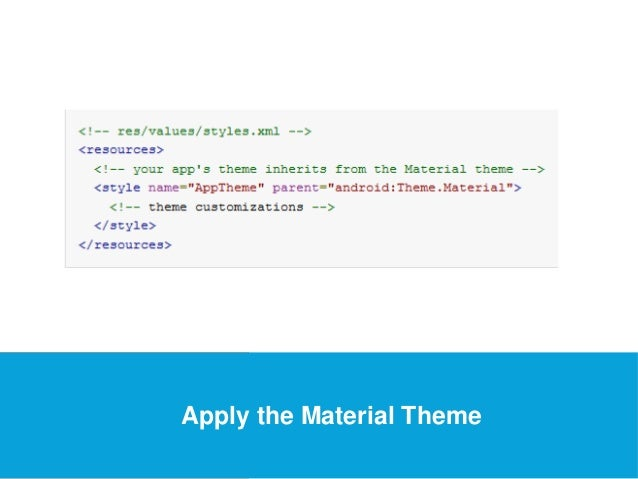 USEFUL Links  Apply the Material Theme