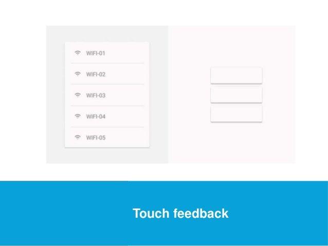 USEFUL Links  Touch feedback