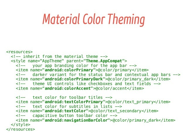 Android Material Design APIs/Tips