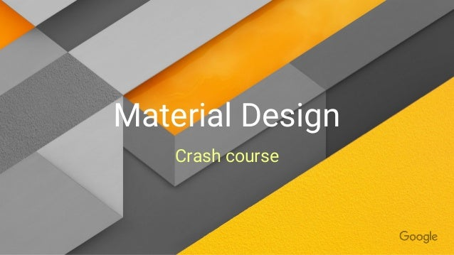 Character Design Crash Course : Material design crash course