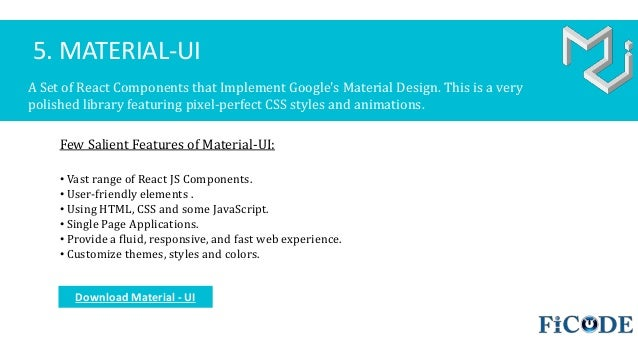 10 Most Popular Material Design Frameworks 2017