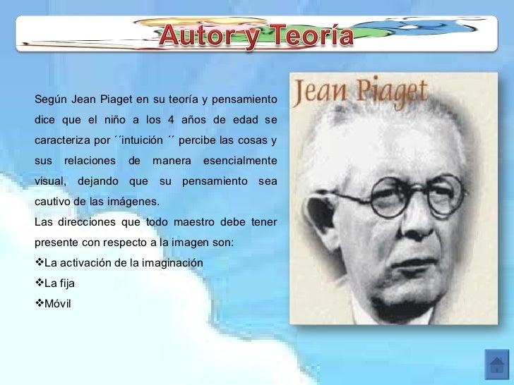 <ul><li>Según Jean Piaget en su teoría y pensamiento dice que el niño a los 4 años de edad se caracteriza por ´´intuición ...