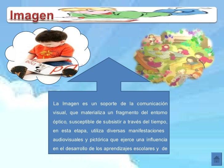 La Imagen es un soporte de la comunicación visual, que materializa un fragmento del entorno óptico, susceptible de subsist...