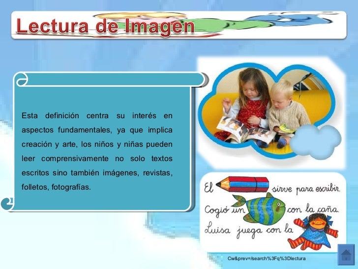 Esta definición centra su interés en aspectos fundamentales, ya que implica creación y arte, los niños y niñas pueden leer...