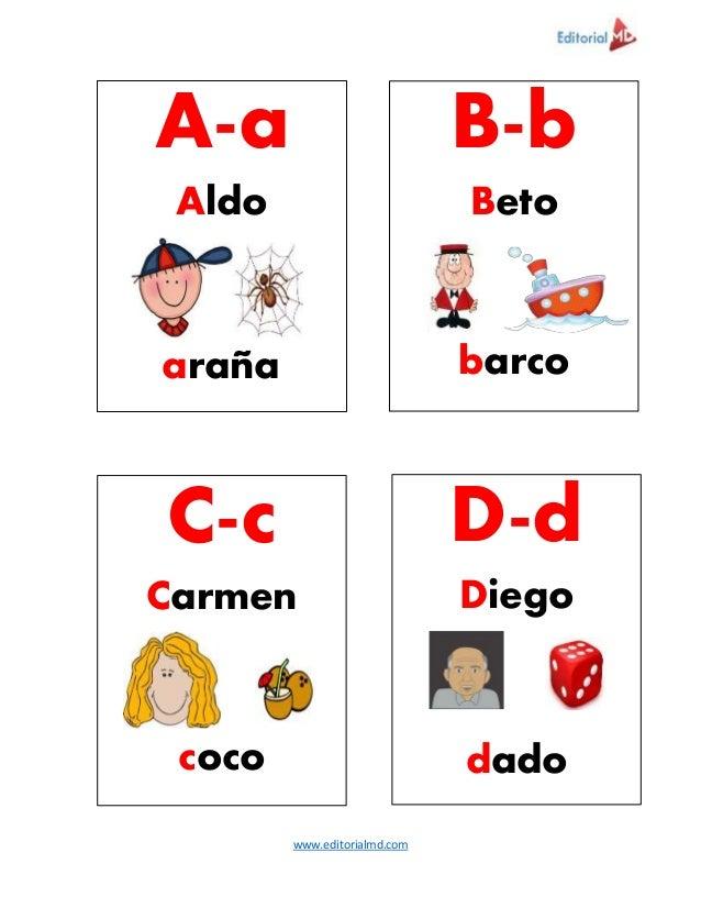 www.editorialmd.com A-a Aldo araña B-b Beto barco C-c Carmen coco D-d Diego dado