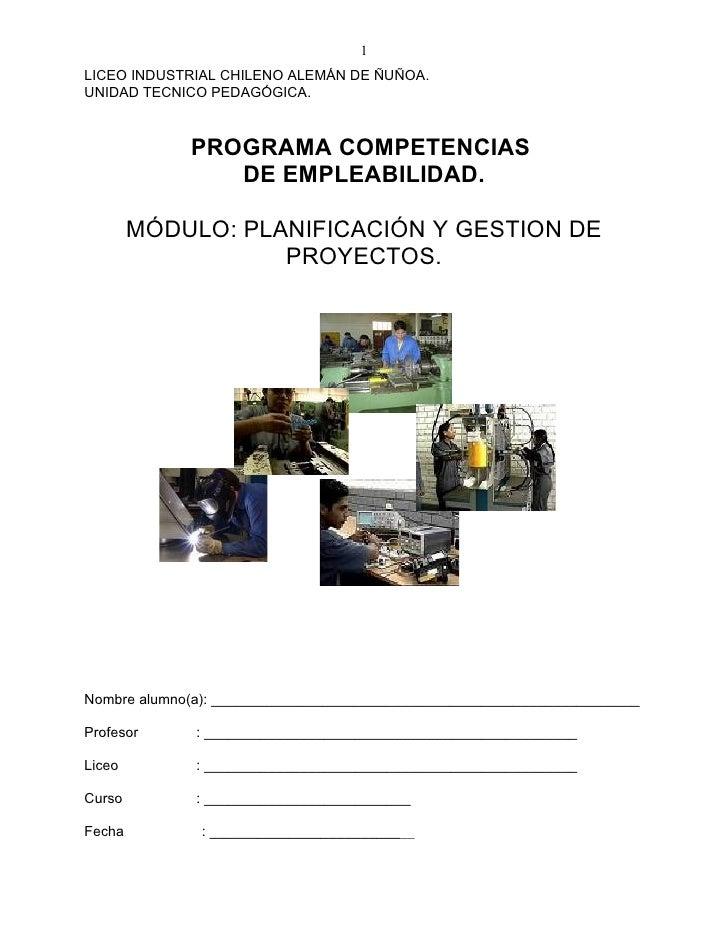 1LICEO INDUSTRIAL CHILENO ALEMÁN DE ÑUÑOA.UNIDAD TECNICO PEDAGÓGICA.             PROGRAMA COMPETENCIAS                DE E...