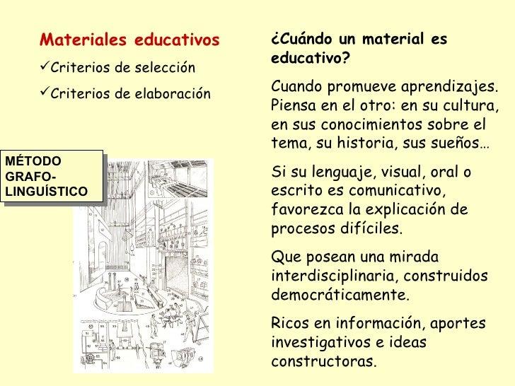 <ul><li>Materiales educativos </li></ul><ul><li>Criterios de selección  </li></ul><ul><li>Criterios de elaboración </li></...
