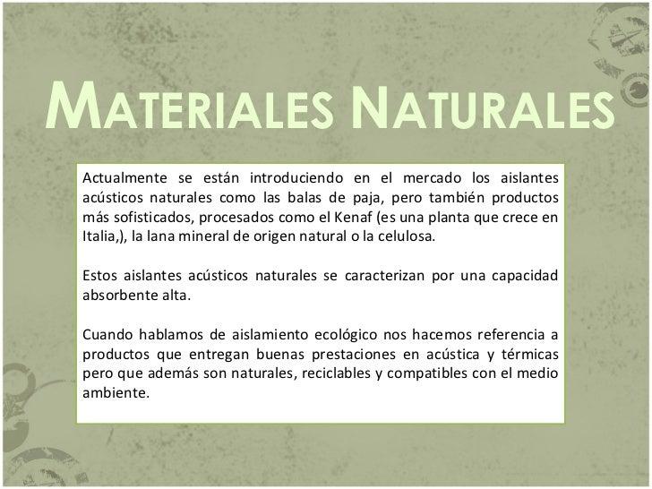 Materiales absorbentes - Materiales aislantes acusticos ...