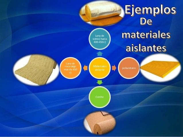 Materiales aislantes de calor - El material aislante ...