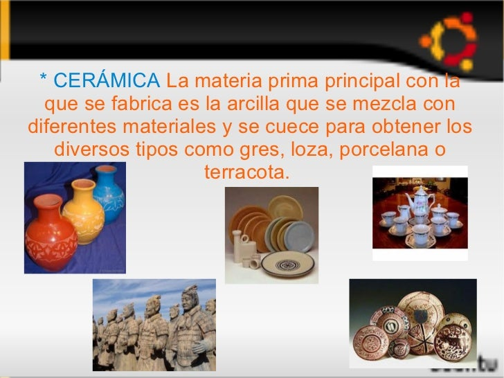 Materiales artificiales Definicion de ceramica