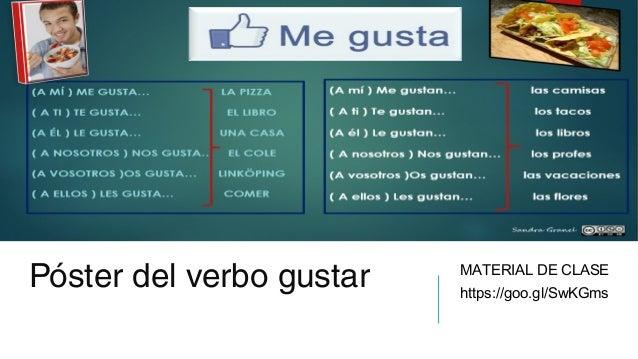 Klicka på ikonen för att lägga till en bild Póster del verbo gustar MATERIAL DE CLASE https://goo.gl/SwKGms
