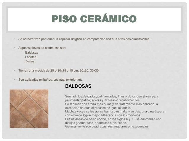 Materiales ceramicos - Medidas de baldosas ...