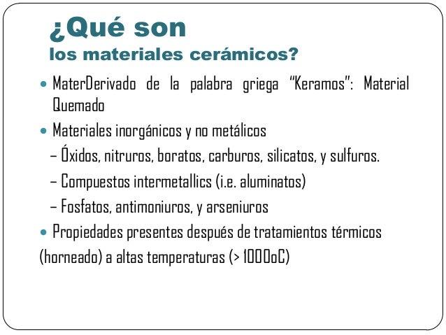 materiales cer micos tradicionales y de la ingeniar a