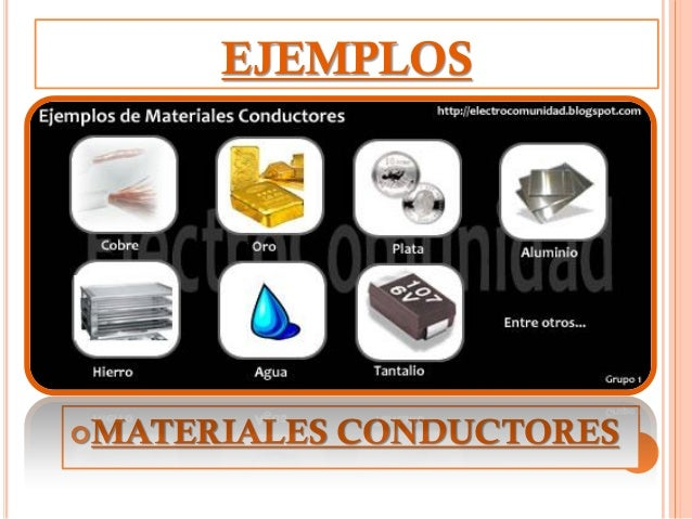 materiales conductores