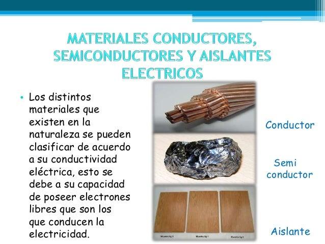 Materiales conductores semiconductores y aislantes Slide 2