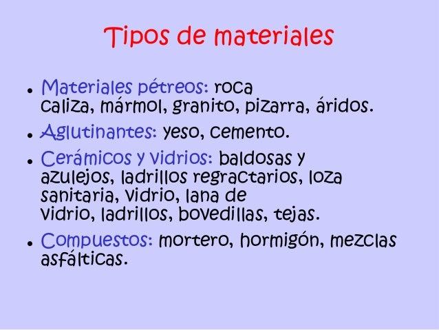 Materiales de construccion - Tipos de materiales de construccion ...