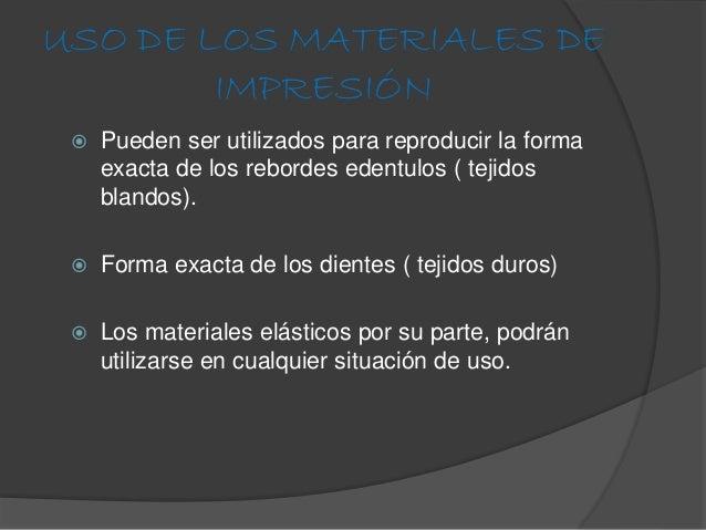 Materiales de impresion for Calco con alginato