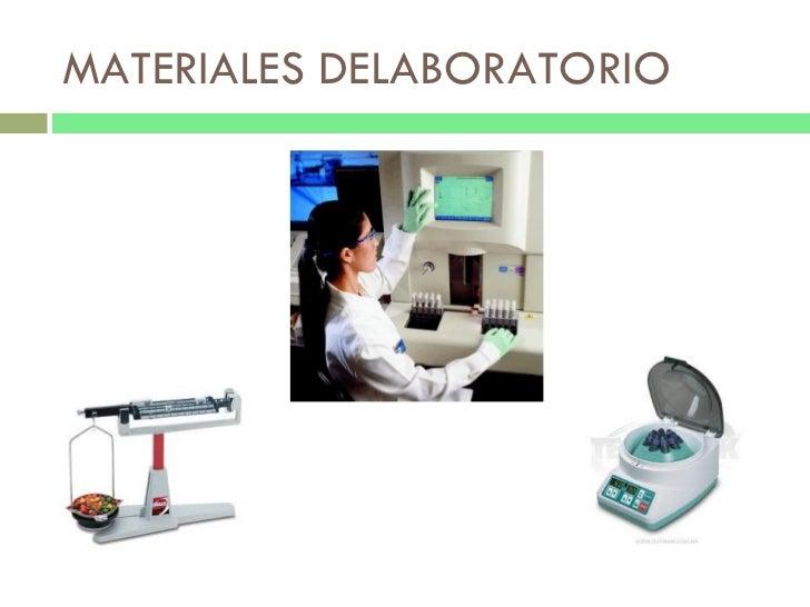 MATERIALES DELABORATORIO