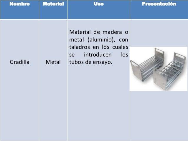 Materiales de laboratorio metal Slide 2