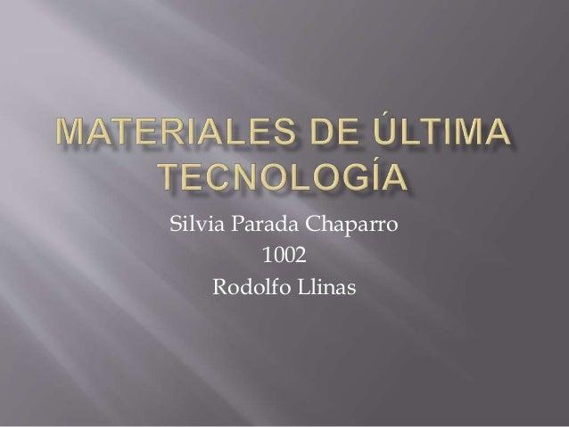 Silvia Parada Chaparro 1002 Rodolfo Llinas