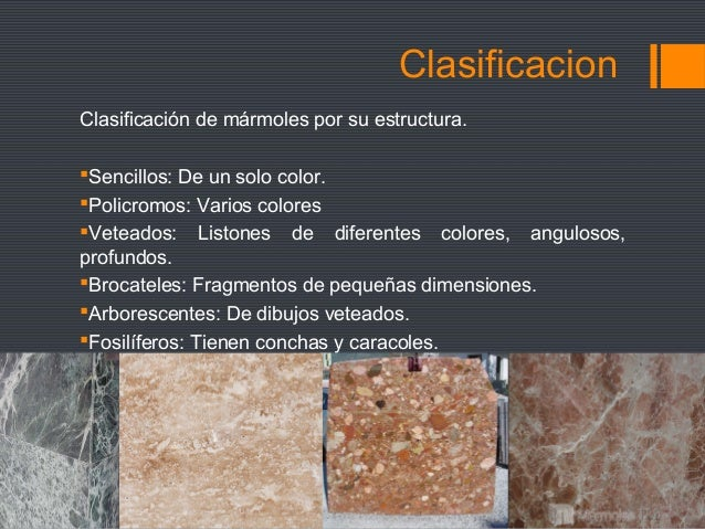 Materiales de revestimiento lee la descripcion for Clasificacion del marmol