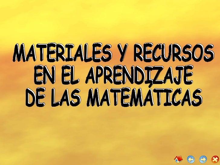 Materiales Didacticos De Matematica