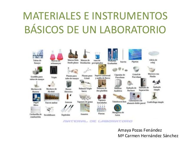 Materiales e instrumentos b sicos de un laboratorio mayka for Material laboratorio