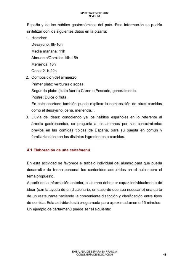 Materiales Para La Clase De Ele B1 2012