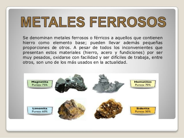 Materiales ferrosos y no ferrosos - Como soldar hierro ...
