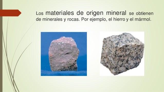 Materiales naturales for Significado de marmol