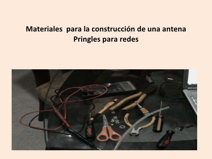 Materiales para la construcci n de una antena pringles - Materiales para la construccion ...