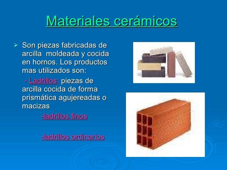 Materiales para la construcci n presentacion - Casa de materiales de construccion ...