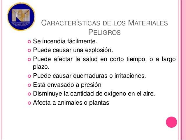 caracteristicas materiales peligrosos